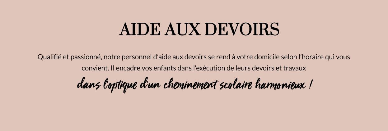 AIDE AUX DEVOIRS -
