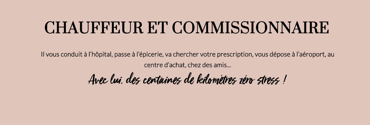 CHAUFFEUR ET COMMISSIONNAIRE-