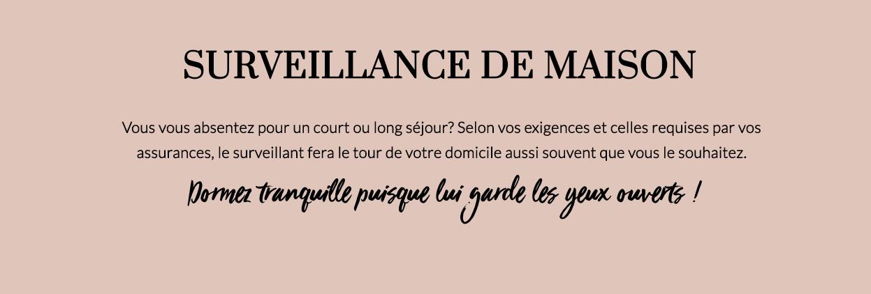SURVEILLANCE DE MAISON-